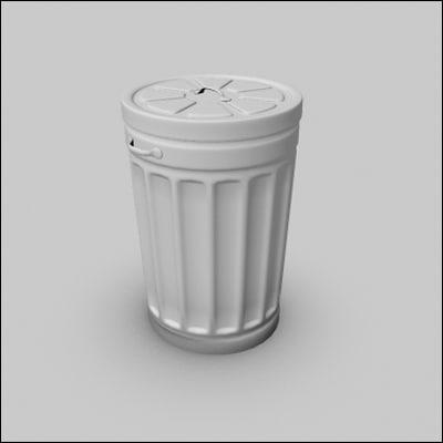 maya trashcan bin