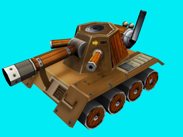 3d tank steamtank model