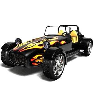 car caterham 3d model