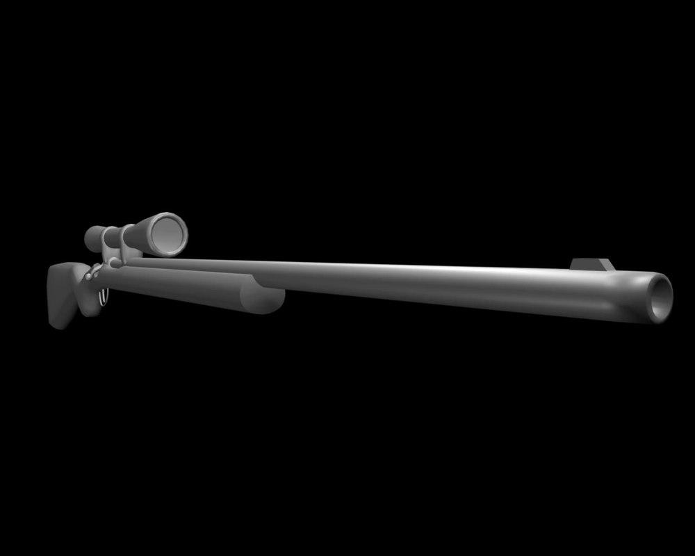 free m24 sniper 3d model