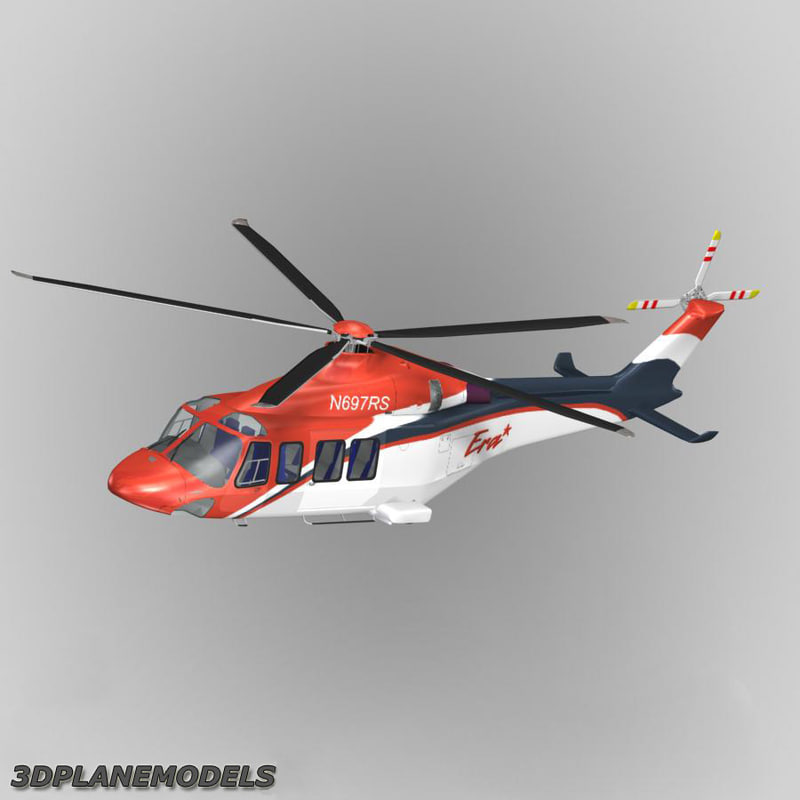 3d model agusta westland aw-139 helicopter