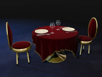 Table and Chairs.c4d