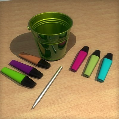 3d model office pen