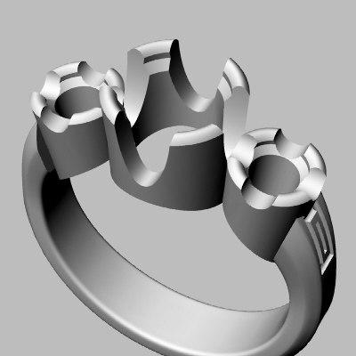 3dm wedding band jewel