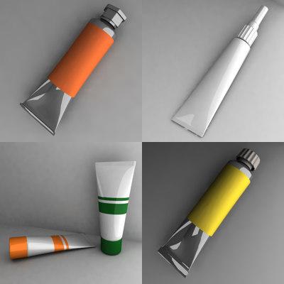 3d painting tube model
