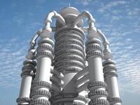 3d futuristic building 5
