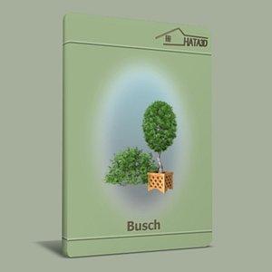 3ds max busch shrub