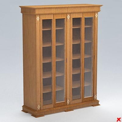 3ds max bookcase cabinet