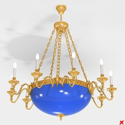 3d model of chandelier lamp