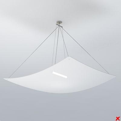 3d lamp hanging model