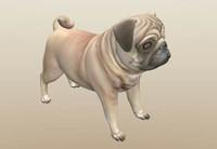 3d model pug dog