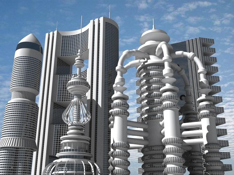 max futuristic buildings