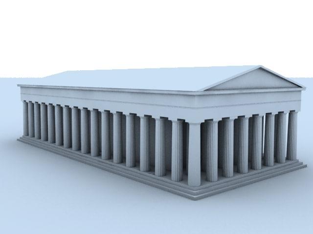 3d acropolis bulding