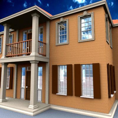 3d model detached house
