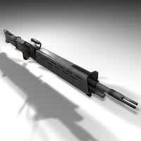 3d model machinegun