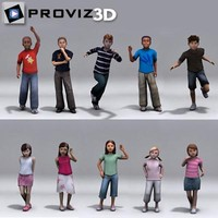 3D People: Children Vol. 02