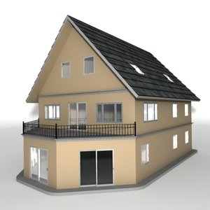 3ds max storey house