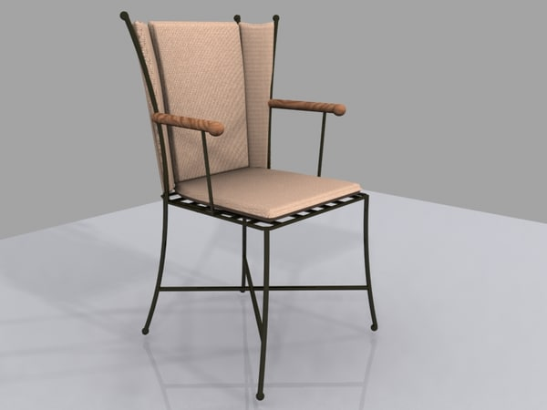 chairs ferforge 3d model