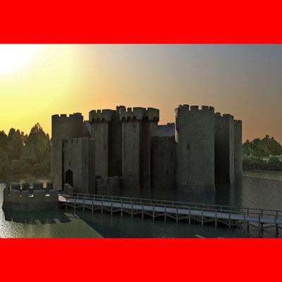 3ds max bodiam castle