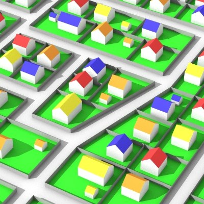 cute city plan 3d lwo