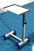 3d mayo surgical cart model