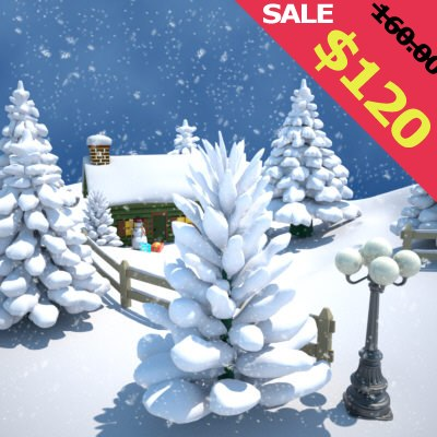 snowman winter snow 3d max