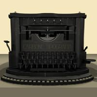 3d old typewriter model