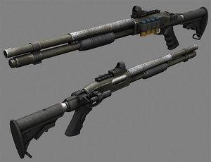 maya shotgun remington 870