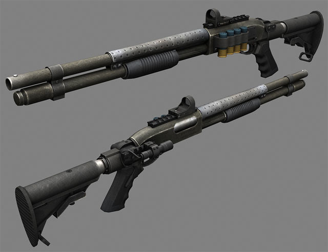 maya shotgun remington 870