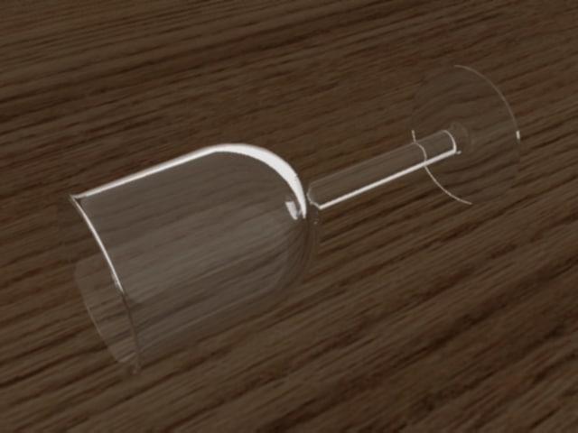 3d model crystal goblet