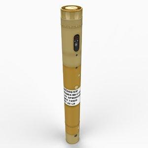 3d model of sonobuoy sonar buoy