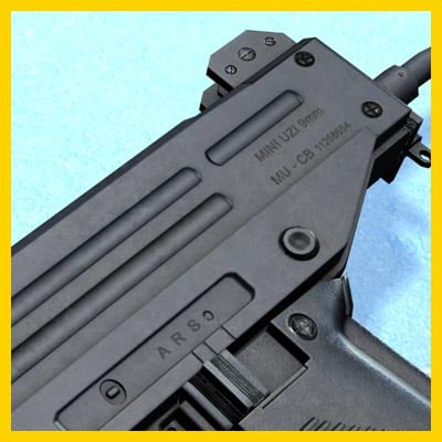 uzi weapon 3d model