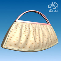 3ds max fashion designer bag -
