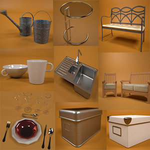 furniture pack dishes 3ds