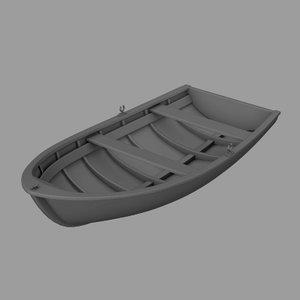 3d model of rowing boat