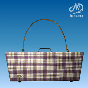 3d model fashion designer bag -