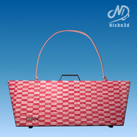 Designer Bag - Ozoc Hard Case Bag Pink Grid