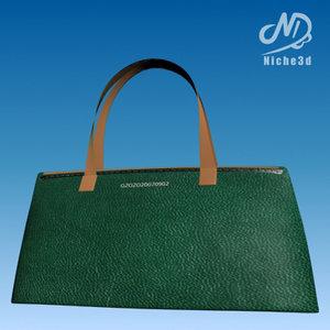 3d model fashion designer bag -