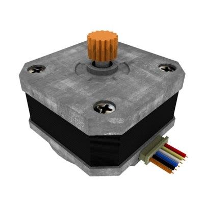 3d model special servomotor