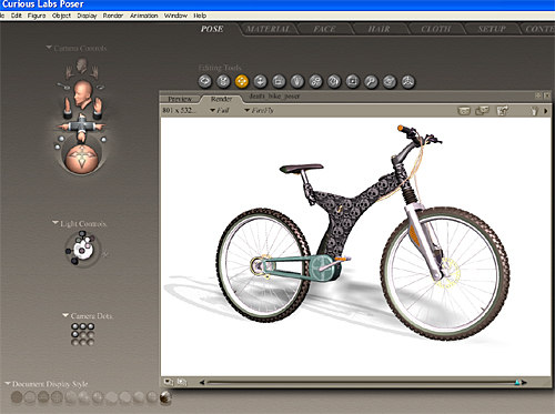 poser mountain bike 3d model