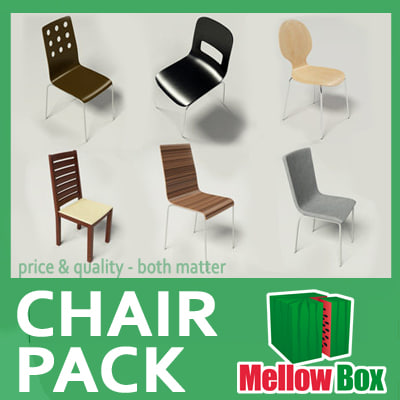 contemporary chairs pack 3d model