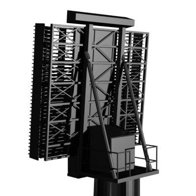 primary radar 3d model