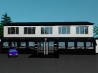 3ds max real fasade trade center