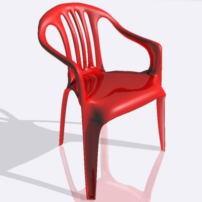 plastic chair 3d 3ds