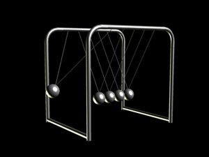 3ds max newtons cradle