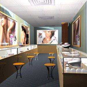 scene jewelry shop complete 3d model