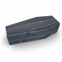 coffin 3d obj