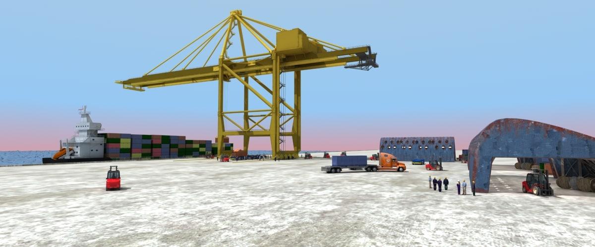port vol2 crane max