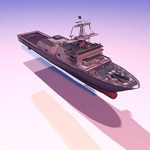 navy landing platform 3d model