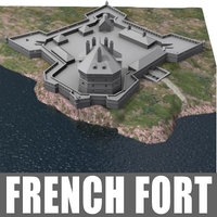 french fort 3d model
